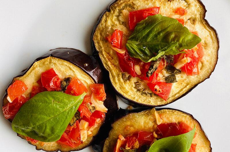 Aubergin pizza